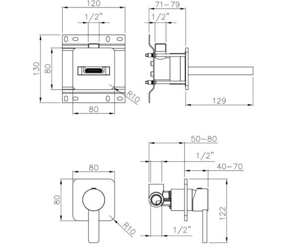 Technical drawing QS-V8564 / AB4097