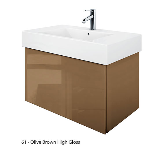 Alternate image of Duravit Delos 1 Compartment Jade High Gloss Unit With Vero 850mm Basin