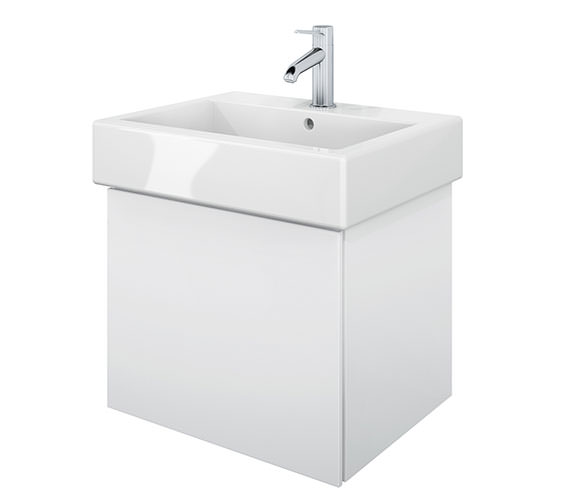 Duravit Delos 1 Compartment White Matt Unit With Vero 500mm Basin
