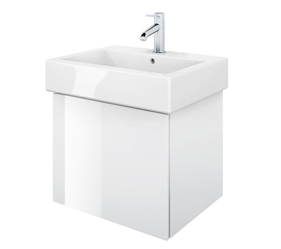 Duravit Delos 1 Compartment White High Gloss Unit With Vero 500mm Basin