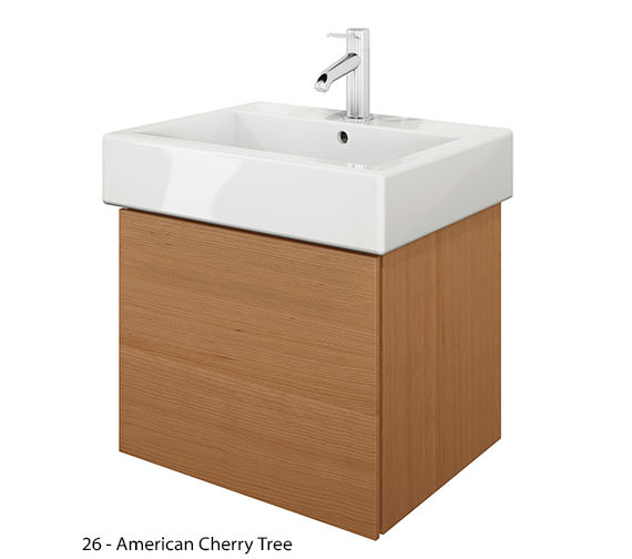 Additional image of Duravit Delos 1 Compartment Brushed Oak Unit With Vero 500mm Basin