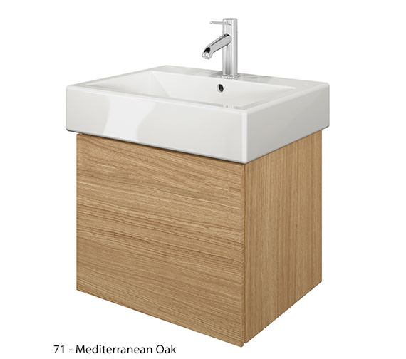Alternate image of Duravit Delos 1 Compartment Brushed Oak Unit With Vero 500mm Basin