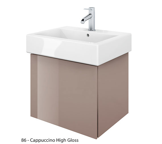 Alternate image of Duravit Delos 1 Compartment Jade High Gloss Unit With Vero 500mm Basin