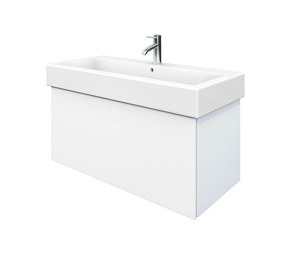 Duravit Delos 1 Compartment White Matt Unit With Vero 1000mm Basin
