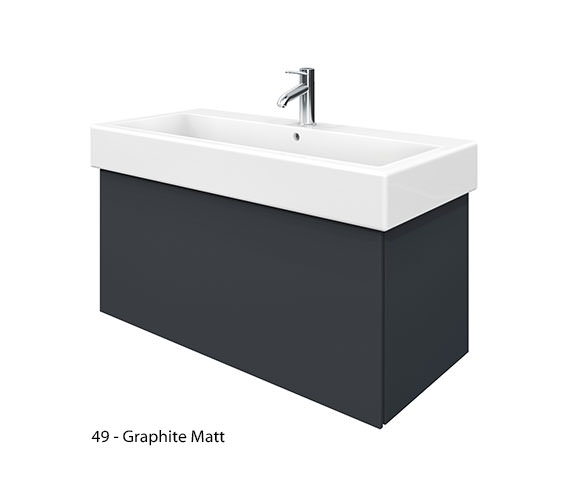 Alternate image of Duravit Delos 1 Compartment White Matt Unit With Vero 1000mm Basin