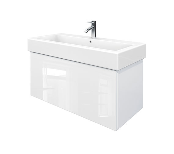 Duravit Delos 1 Compartment White High Gloss Unit With Vero 1000mm Basin