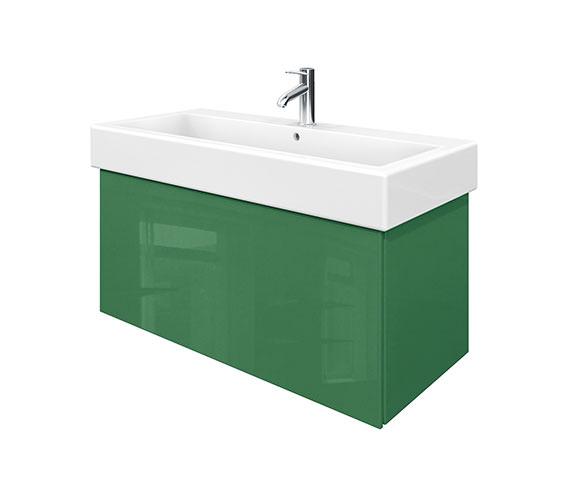 Duravit Delos 1 Compartment Jade High Gloss Unit With Vero 1000mm Basin