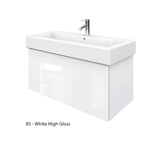 Alternate image of Duravit Delos 1 Compartment Jade High Gloss Unit With Vero 1000mm Basin