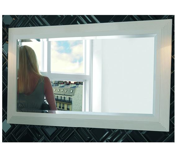 Imperial Astoria 943 x 755mm Large Mirror White