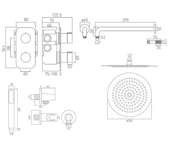 Technical drawing QS-V23113 / TAB-1721/ALT-CP