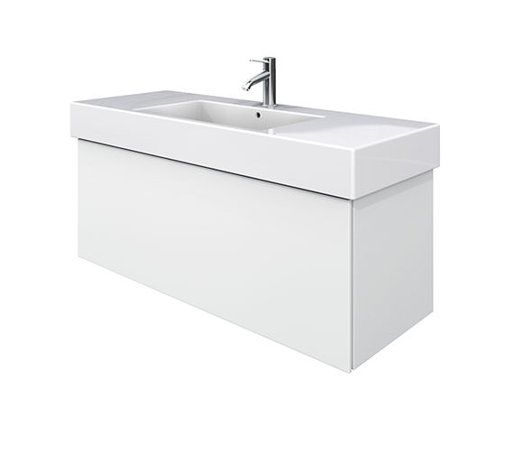 Duravit Delos 1 Compartment White Matt Unit With Vero 1250mm Basin