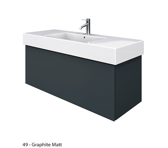 Additional image of Duravit Delos 1 Compartment White Matt Unit With Vero 1250mm Basin
