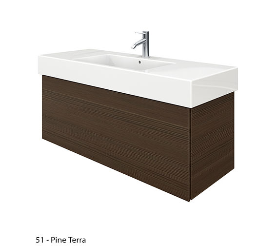 Alternate image of Duravit Delos 1 Compartment White Matt Unit With Vero 1250mm Basin