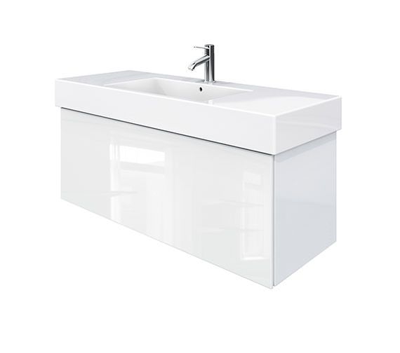 Duravit Delos 1 Compartment White High Gloss Unit With Vero 1250mm Basin