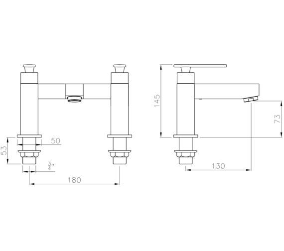 Technical drawing QS-V8554 / AB4083