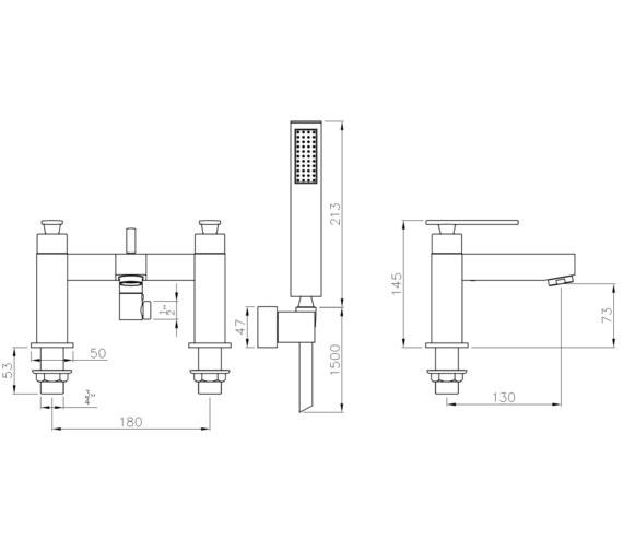 Technical drawing QS-V8555 / AB4084