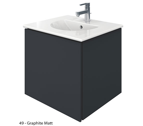 Alternate image of Duravit Delos 1 Compartment White Matt Unit With Darling New 530mm Basin