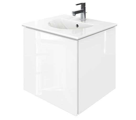 Duravit Delos 1 Compartment White Gloss Unit With Darling New 530mm Basin