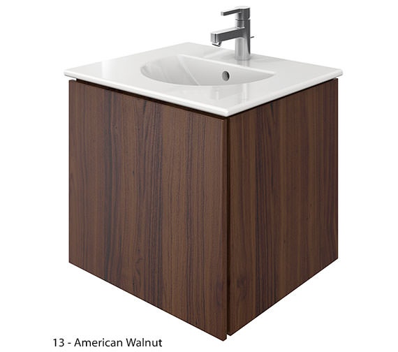 Additional image of Duravit Delos 1 Compartment Brushed Oak Unit With Darling New 530mm Basin