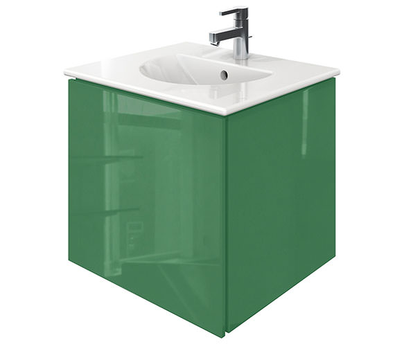 Duravit Delos 1 Compartment Jade Gloss Unit With Darling New 530mm Basin