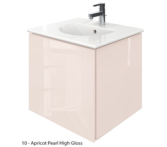Additional image of Duravit Delos 1 Compartment Jade Gloss Unit With Darling New 530mm Basin