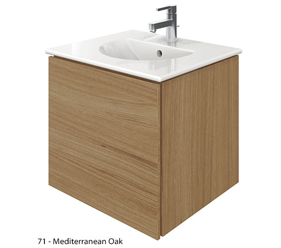 Alternate image of Duravit Delos 1 Compartment Brushed Oak Unit With Darling New 530mm Basin