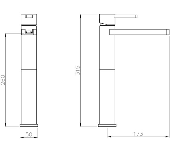 Technical drawing QS-V8559 / AB4092