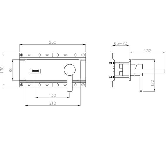 Technical drawing QS-V8560 / AB4093