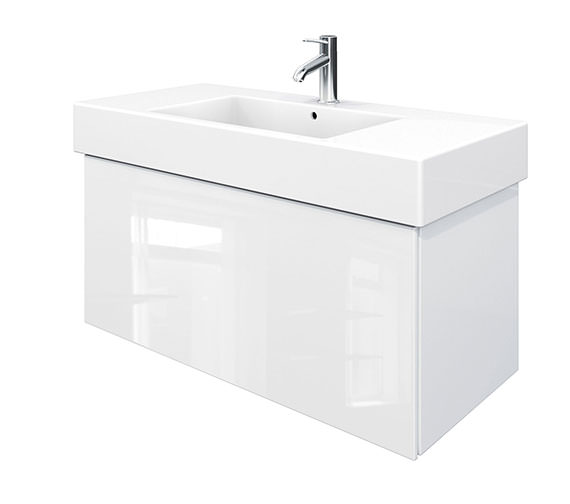 Duravit Delos 1 Compartment White High Gloss Unit With Vero 1050mm Basin