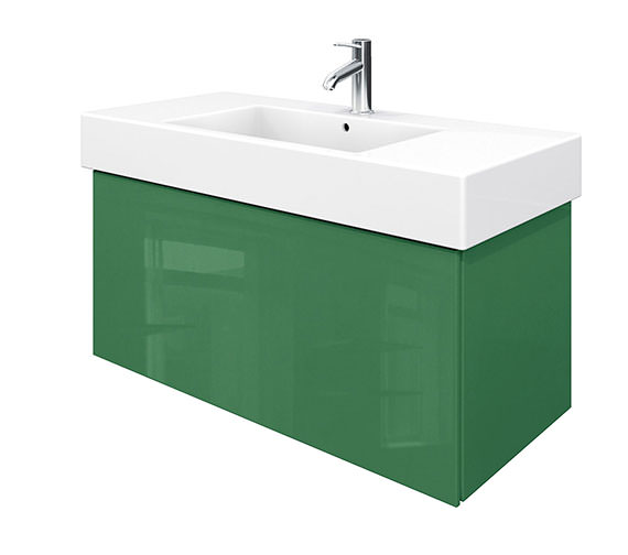 Duravit Delos 1 Compartment Jade High Gloss Unit With Vero 1050mm Basin