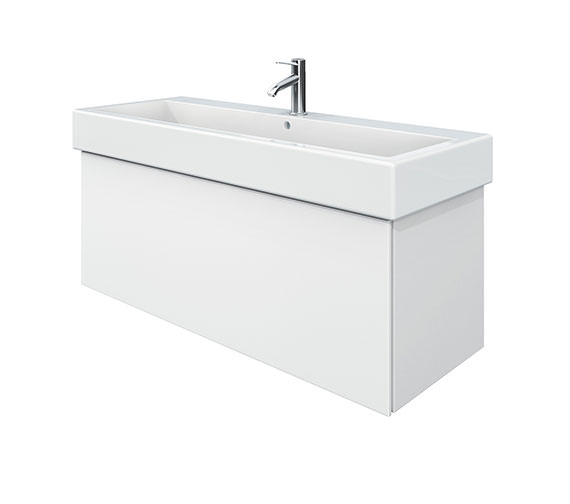 Duravit Delos 1 Compartment White Matt Unit With Vero 1200mm Basin