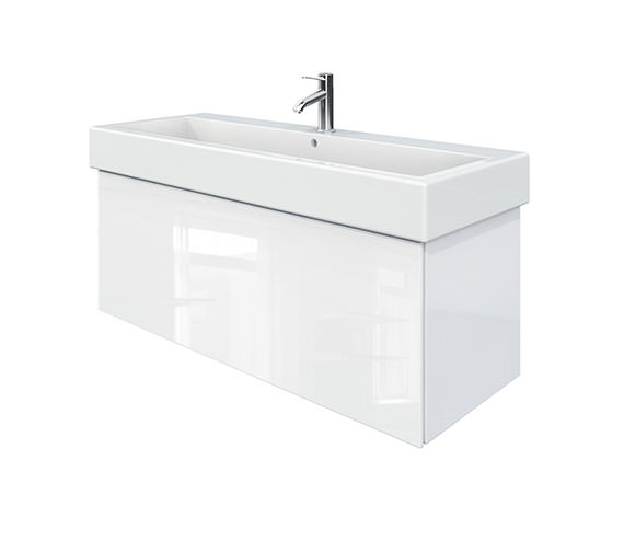Duravit Delos 1 Compartment White High Gloss Unit With Vero 1200mm Basin