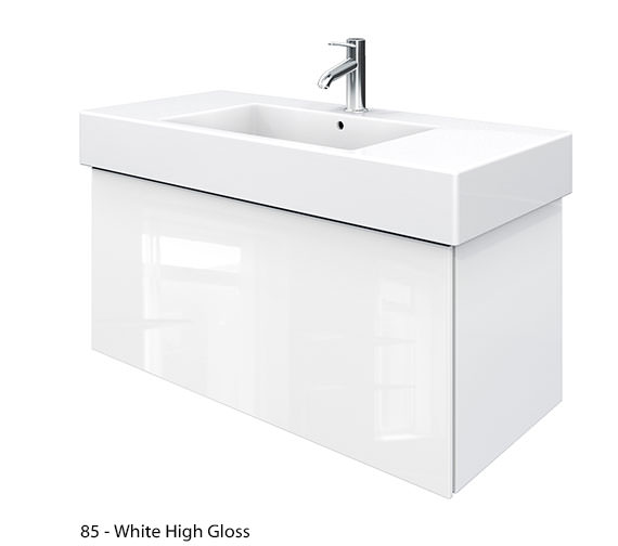 Alternate image of Duravit Delos 1 Compartment Jade High Gloss Unit With Vero 1050mm Basin