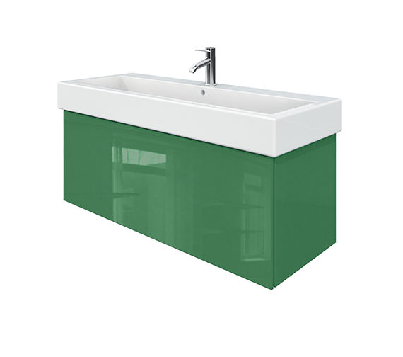 Duravit Delos 1 Compartment Jade High Gloss Unit With Vero 1200mm Basin