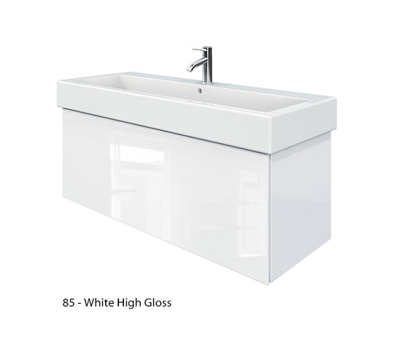 Alternate image of Duravit Delos 1 Compartment Jade High Gloss Unit With Vero 1200mm Basin