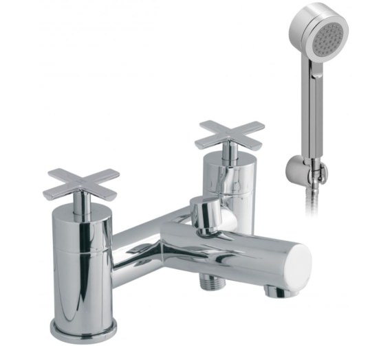 Vado Tonic Deck Mounted 2 Hole Bath Shower Mixer Tap With Kit