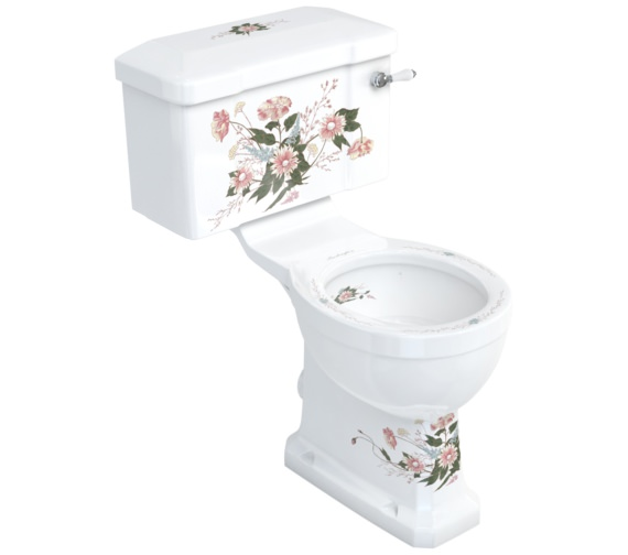 Burlington English Garden Close-Coupled WC And Ceramic Lever Cistern
