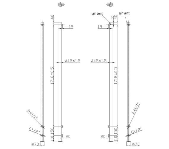 Technical drawing QS-V6610 / RA188