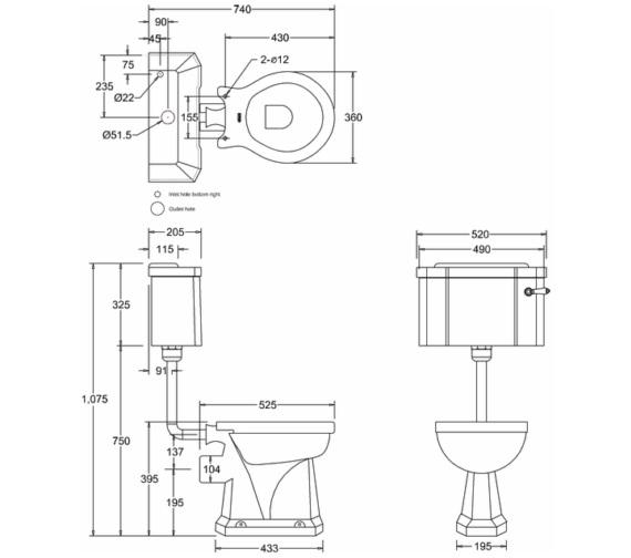 Technical drawing QS-V13483 / P2D