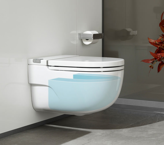 Additional image of Roca Meridian-N In-Tank Wall Hung WC And Cistern - Stud Walls Support