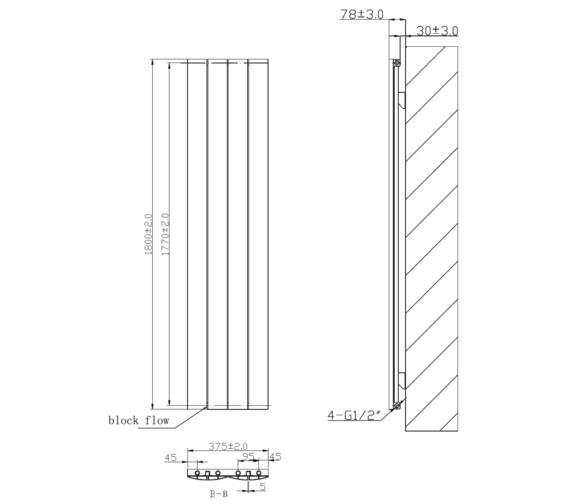 Technical drawing QS-V6613 / RA210