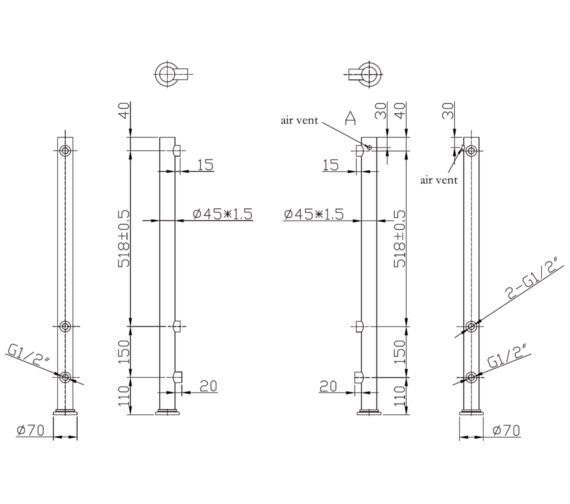 Technical drawing QS-V6603 / RA180