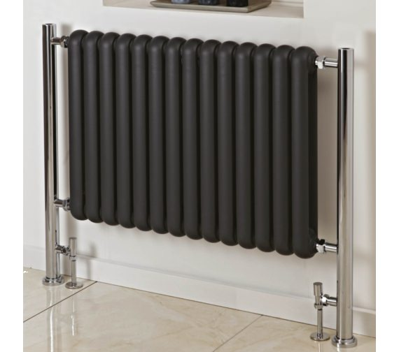 Phoenix Lilly Plus 706 x 818mm Floor Mounted Radiator Anthracite