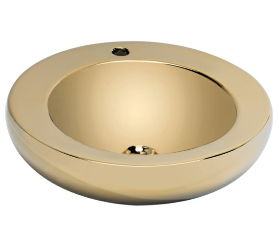 Beo Lavabo 490mm Round Countertop Basin Gold