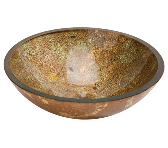 Beo Lavabo 420mm Countertop Basin Gold And Copper