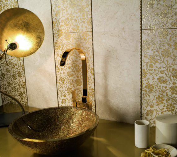 Alternate image of Beo Lavabo 420mm Countertop Basin Gold And Copper