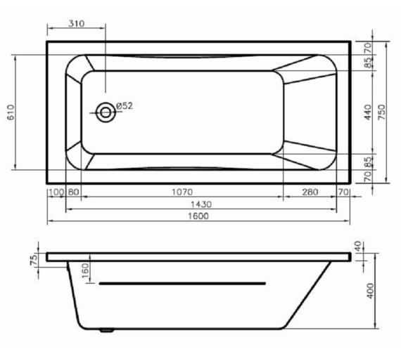 Technical drawing QS-V6670 / BH070S1