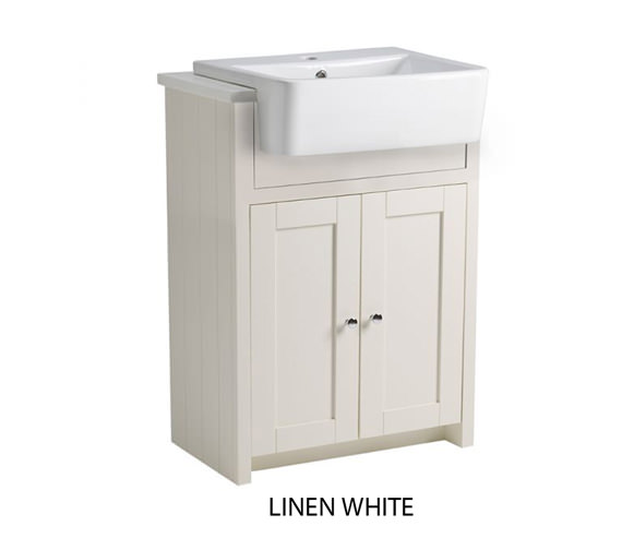 Tavistock Lansdown 600mm Semi-Countertop Vanity Unit - Linen White