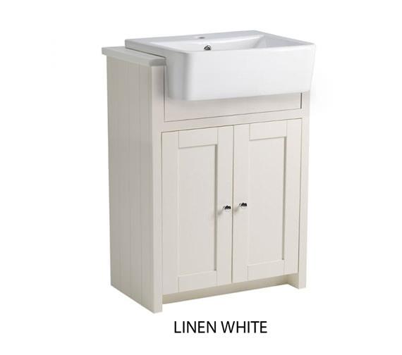 Countertop Unit : Tavistock Lansdown 600mm Semi-Countertop Vanity Unit - Linen White