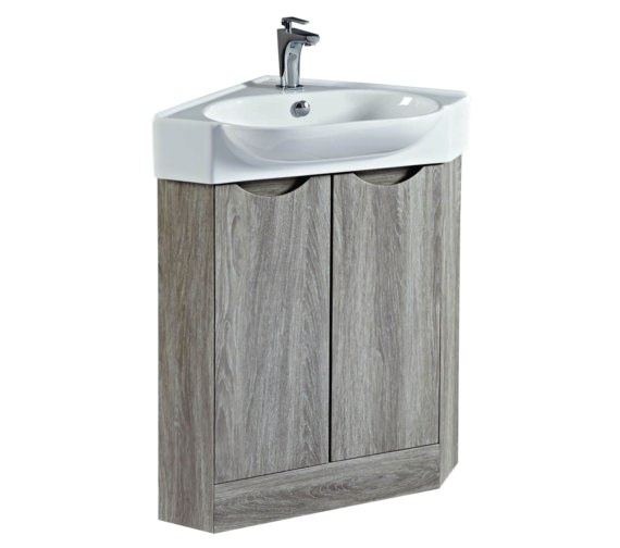 Phoenix Dakota 510mm Corner Vanity Unit And Basin Avola